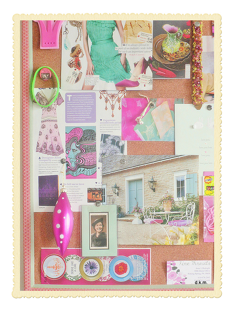 Inspirationboardpinkframed1