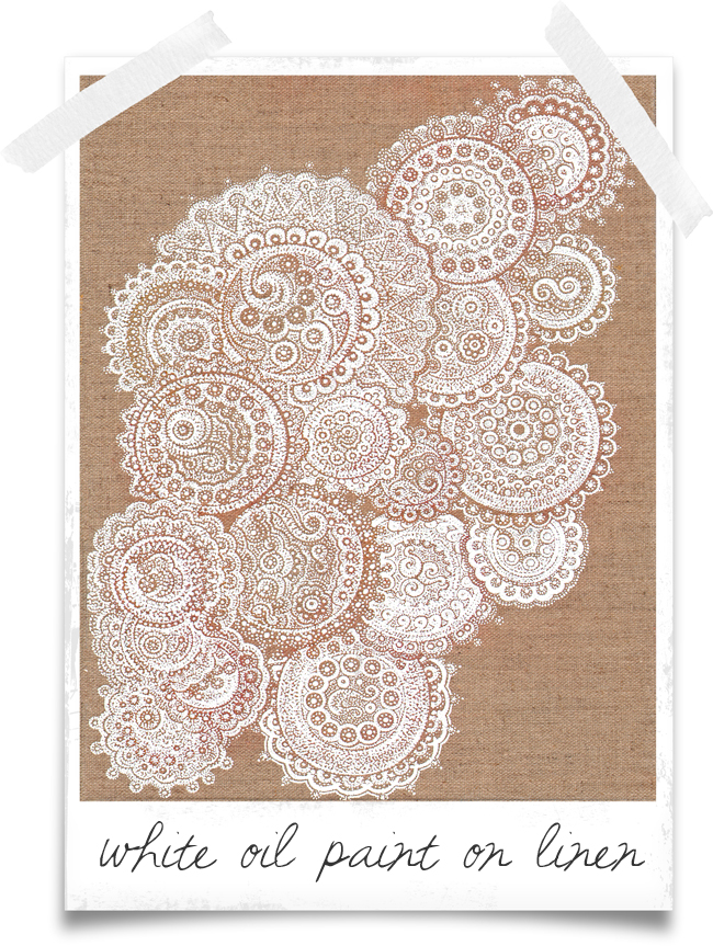 Doily-painting