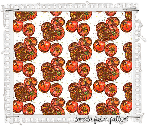 Tomato-fabric-pattern-frame