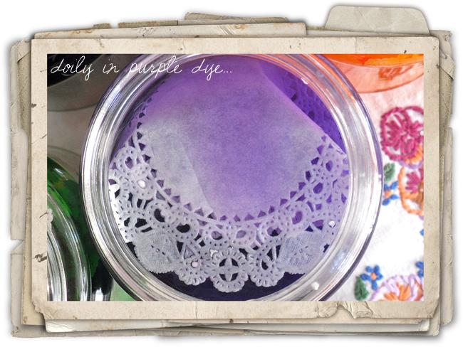 Doily-in-purple-dye