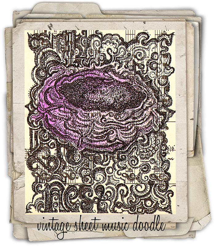 Vintage-sheet-music-doodle-