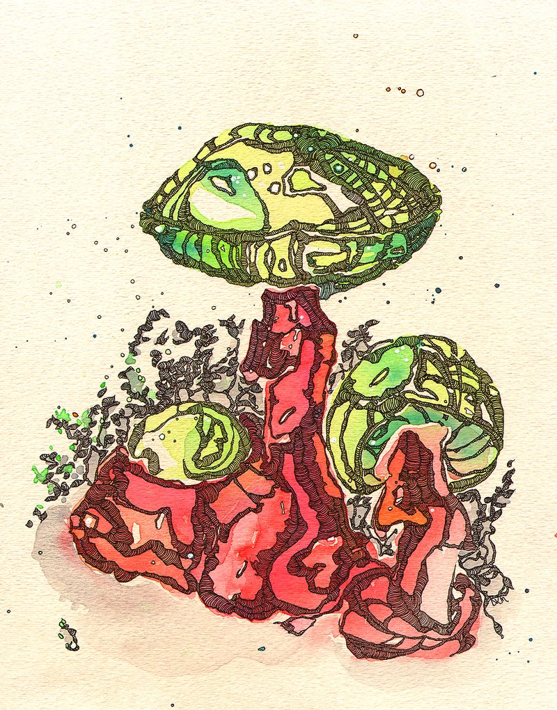 Green-Mushrooms